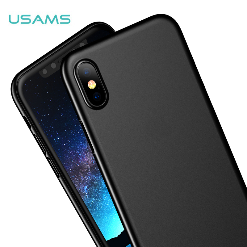 USAMS Gentle Series Matte PP Back Cover Phone case for Apple iphone X