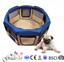 Folding Dog Playpen with Canvas Carrying Bag