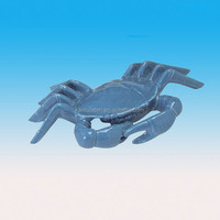 Nautical Ocean Beach Bay Blue ceramic crab figurine