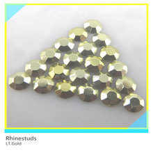 Metallic Rhinestud LT.Gold Round Flatback Ss6 2mm 600 Gross Package