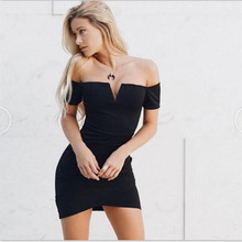 VD5034 Dvacaman 2018 wholesale new arrival hot sale backless short-sleeved deep V wrap hip women dress