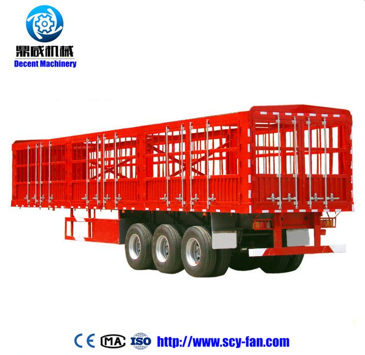 poultry transport truck trailer flatbed trailer with rail flat bed semi trailer