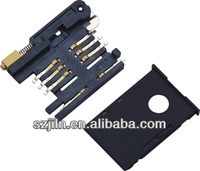 molex connector:6 pin/8 pin push type sd card
