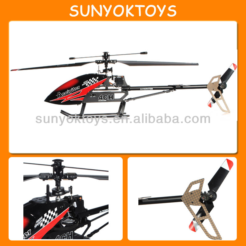 PK V913 , 65CM Carbon Fiber Structure Big 4CH Single Blade RC Helicopter