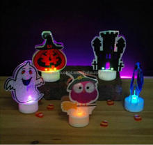 Arts crafts stocks souvenir for kids battery operated halloween plastic figure led tealight candles