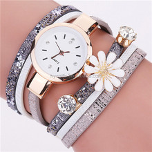 fancy deisgn pearl chain bracelet watch lady watch with pearl flower