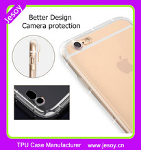 JESOY Protect the Cell Phone Camera Transparent Back Cover Soft TPU Phone Case For iphone 5 5C