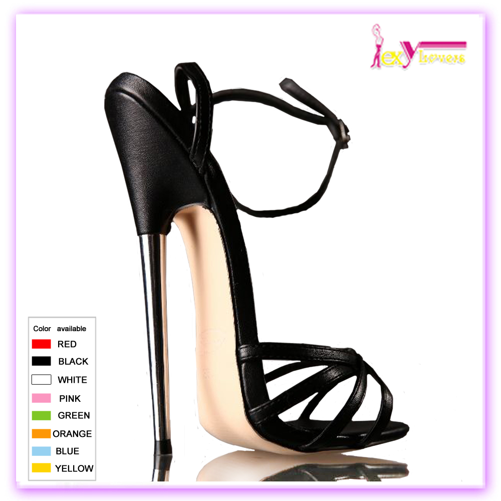New Sexy Womens Gladiator 17cm High Heels Hollow Buckle Stiletto Sandals Pumps Shoes