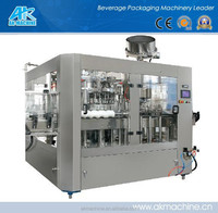 Automatic 3 in 1 Glass Bottle Filling Machine For Carbonated Soft Drink