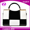 Free Shipping Western style Hot trending Elegant Grid Ladies Handbag with Rivet from China manufactuer