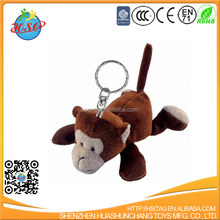 Custom plush animal keychain monkey toy plush keychain