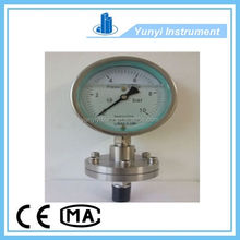 oil filled bourdon tube type pressure gauge