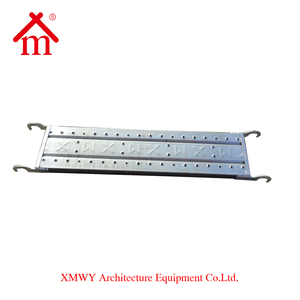 Construction Scaffolding Platform Material Q195 Hot Dip Galvanized Steel Catwalk Plank with Hooks