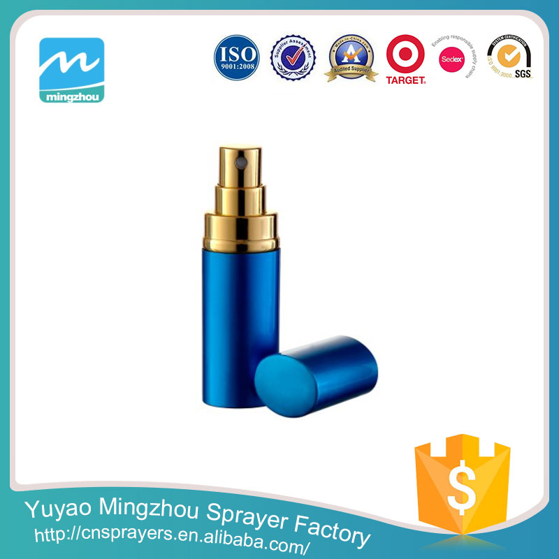 Hot Selling High Quality Professional The Best Price Blue Aluminium&Glass MZ-C09 Refillable Perfume Atomizer