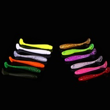 6pcs/lot Mini T Tail soft <strong>Bait</strong> 70mm/1.9g SwimBait plastic worm <strong>Fishing</strong> Lure Small T Tail Soft Bionic <strong>Bait</strong> Lure