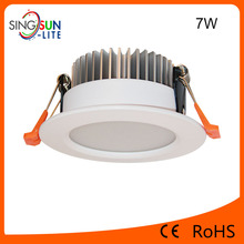 2017 hot selling newest downlight led 7w,dimmable led down light price,ip44 aluminum round 7 watt led downlight dimmable
