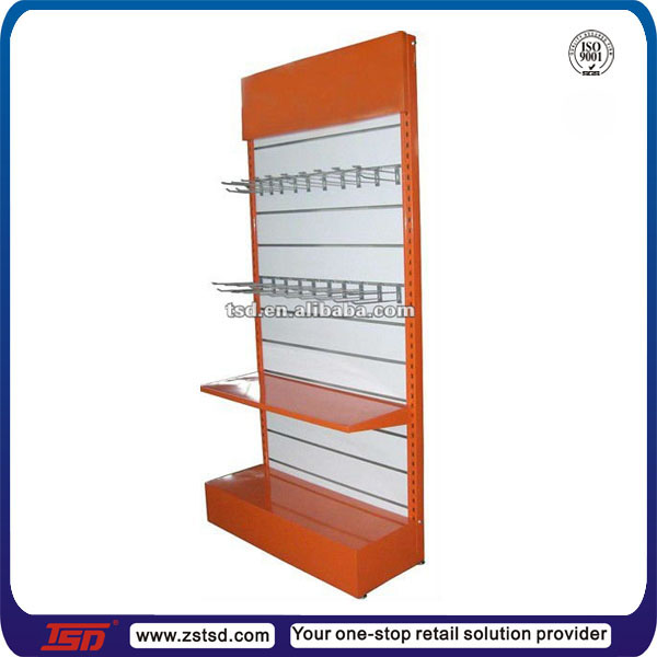 TSD-M063 Custom high quality slatwall department store display racks,retail merchandising unit,shop wall rack