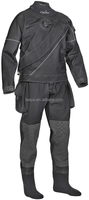 diving equipment drysuit with elastic crotch strap