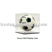 fashion acrylic football display case with black base