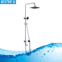 Humanized design top quality hot sell wall mounted mirror bathroom shower set/faucet