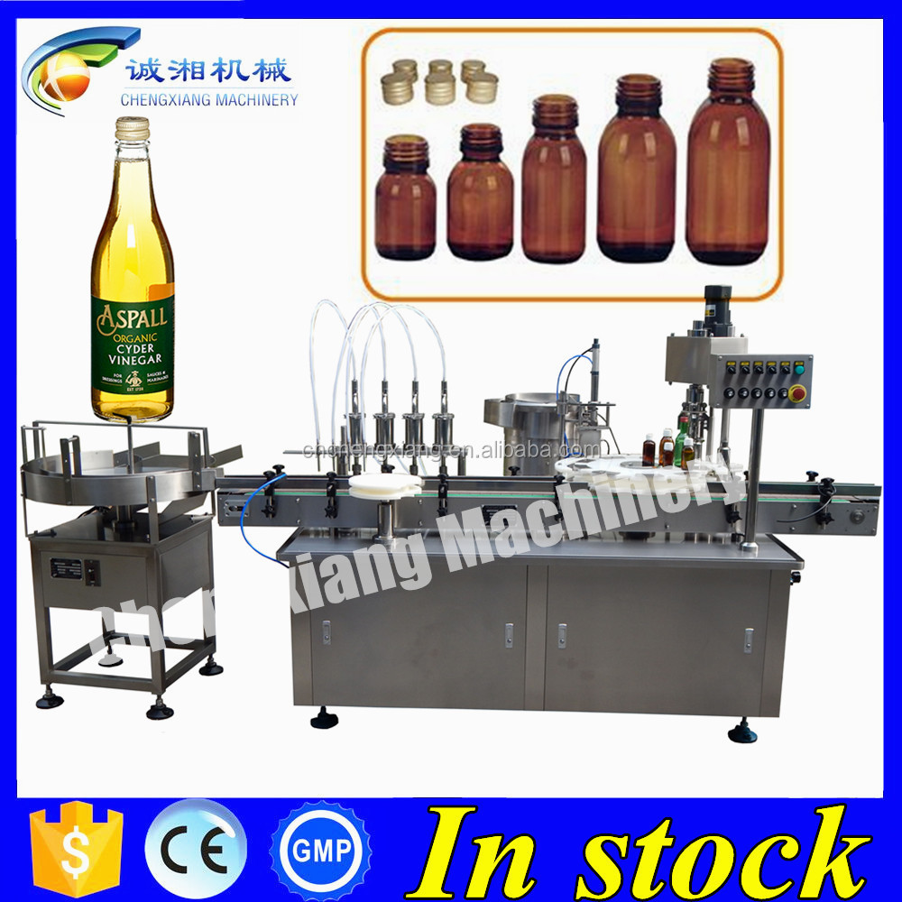Factory direct sale automatic glass bottle filling capping machine