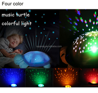 Turtle Night Lights led start for baby Music Lights Mini Projector 4 Colors 4 Songs Star Projector led Lamp