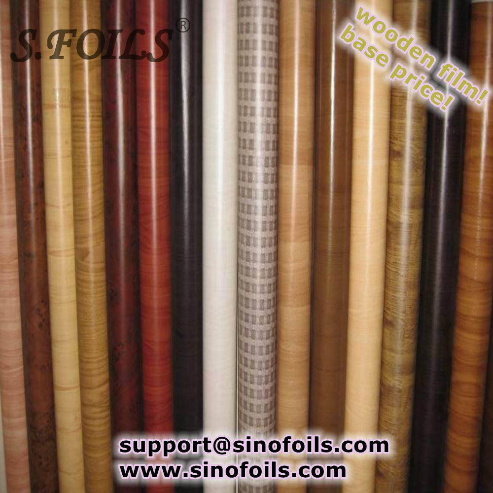 wood grain color printing sublimation heat transfer film for aluminum Guangdong factory price
