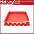 NAHAM Cheap Colorful Cardboard Office Desk Stationery File Paper Tray