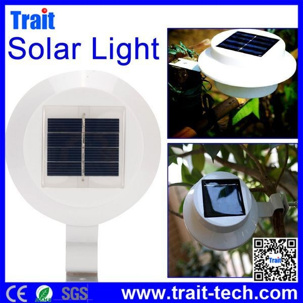 White Solar Power Smart LED Solar Gutter Night Utility Security Light