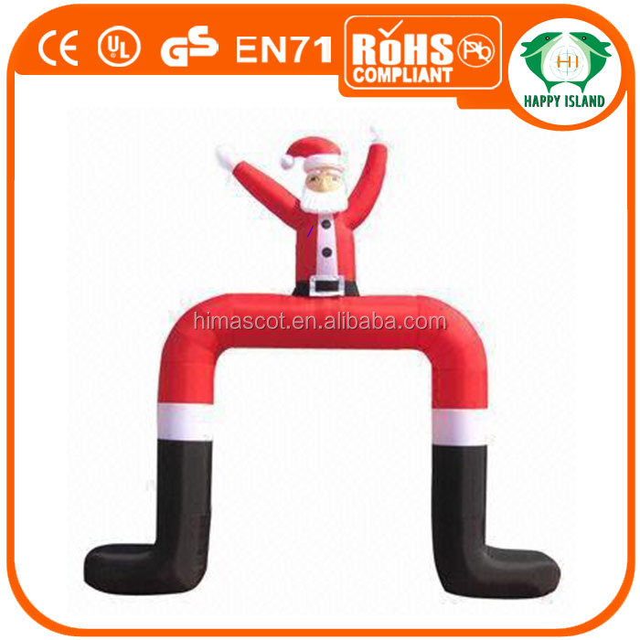HI promotion advertising inflatable santa arch, holiday inflatables