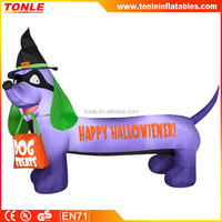 cheap inflatable Happy Hallowiener Dog halloween decoration for sale