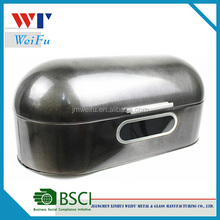 Oval-shaped Metal Bread Storage Box with Window, Bread Canister,Metal Bread Tin