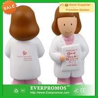 Female Physician stress ball with Logo for promotion and stress reliever
