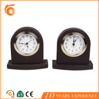 Home leather desktop clock for Hotel