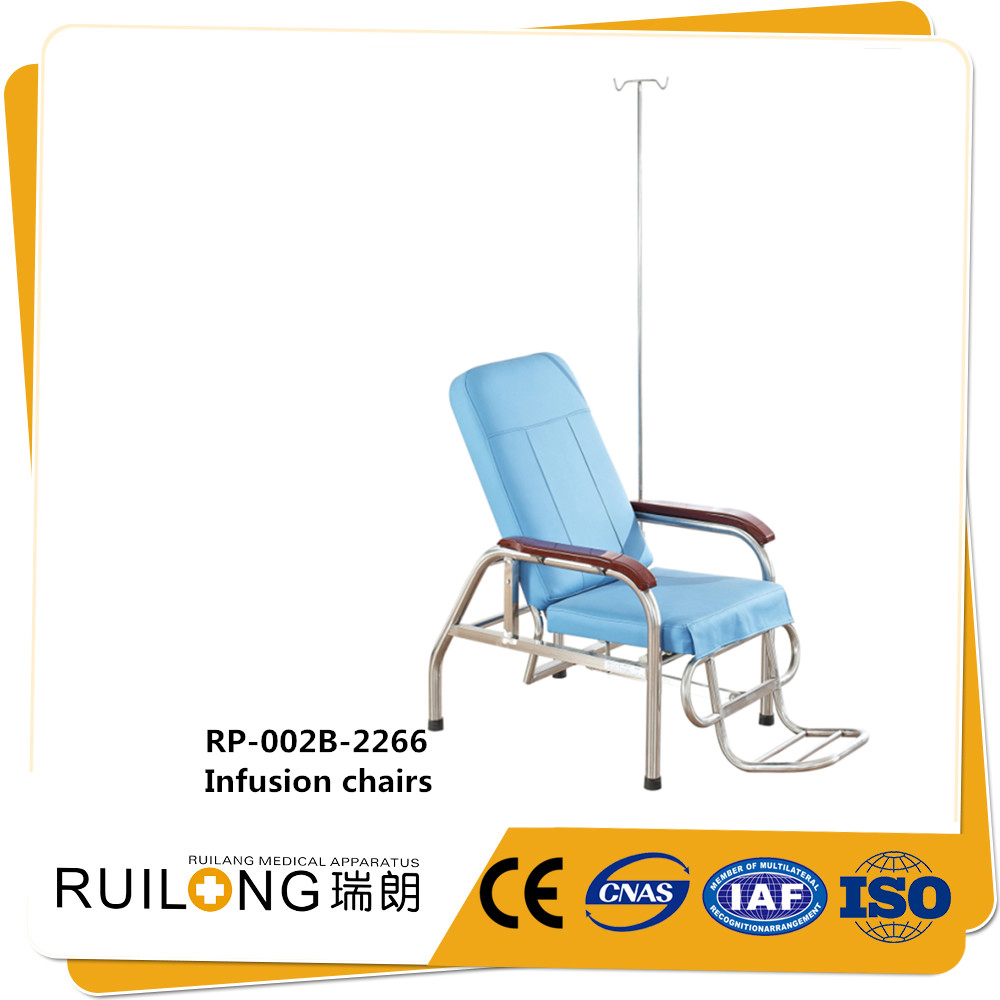 Hospital Patient Care Stainless Steel Folding Infusion Chair Bed