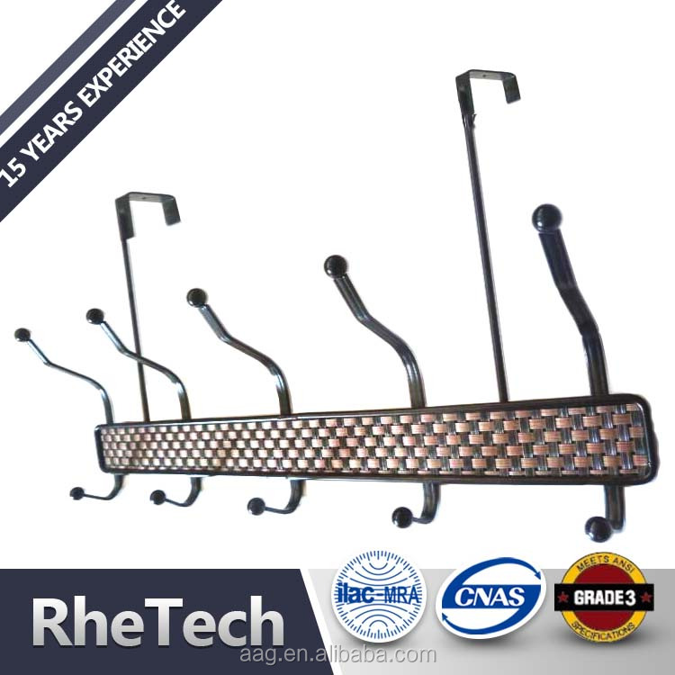 High Quality Metal Clothes Hanger Hooks and Hat Hook Double Over the Door Hooks