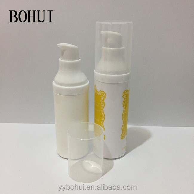 30ml PP Plastic Airless Bottle with Pump for Cosmetic