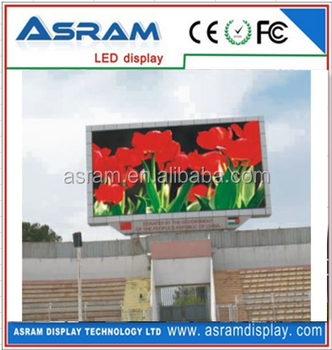 alibaba outdoor p10 advertising led display screen /large size advertising led display