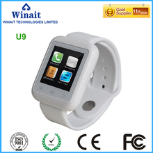 smart watch phone u9 with touch display digital BT watch