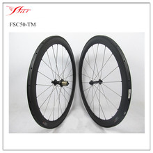 700C Full carbon wheelset 50mm tubular rims with 20.5mm width Farsports carbon wheels tubular for racing road bike