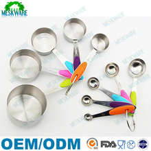 10-Piece hot selling wholesale stainless steel measuring cup and spoon set with silicone grips