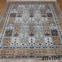 China hand knotted wool and silk rugs braided rug in stock