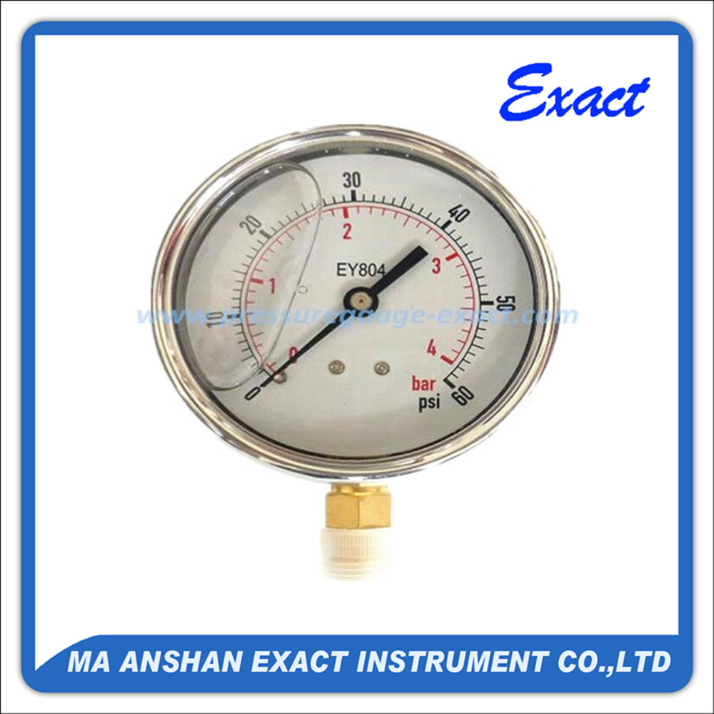 stainless steel dual scale liquid pressure gauge manufacturer