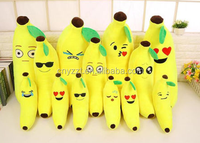 17-33 inch Plush Large Size Emoji Banana shaped Pillow Doll Toy Birthday Gift
