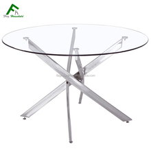 FDT-801 Top Manufacturer Clear Modern Tempered Glass Dining Room Table