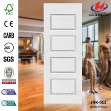 JHK-011 4MM Moulded MDF White Primer Door Skin Widly Used Beautiful Glass Interior Door