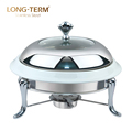 L4017A Wholesale Elegant Food Warmer Buffet Chafing Dish With Glass Lid