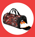 Custom Sport Bags For Gym Printed Pattern Fabric,Trendy Duffle Bags Sports Luggage Shoe Compartment