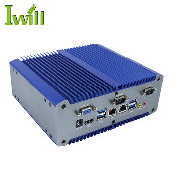Good quality intel Skylake i3 6100U embedded industrial mini pc 2 ethernet fanless IPC linux