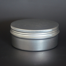 250g/mlRefillable Cosmetic Bottle Ointment Cream Sample Packaging Containers Screw Cap Empty Aluminum Jars